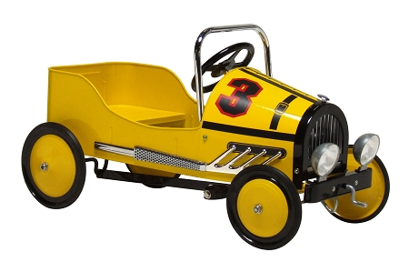 Retro Style Steel Pedal Car YELLOW