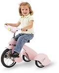 Retro Style Pink Pegasus Steel Tricycle