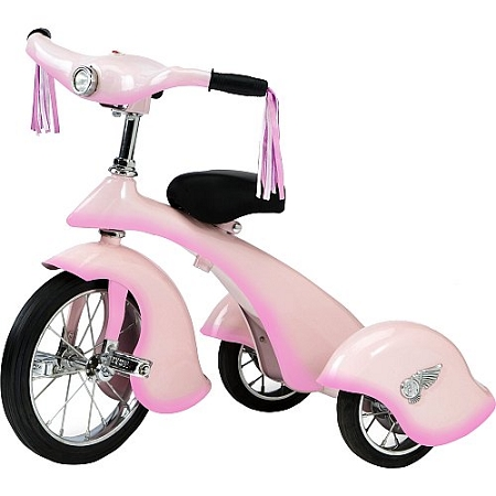 Retro Style Pink Fairy Steel Tricycle