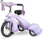 Retro Style Lavender Rod Steel Tricycle