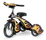 Retro Style Black Hot Rod Steel Tricycle