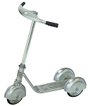 Retro Style 3 Wheel Scooter SILVER