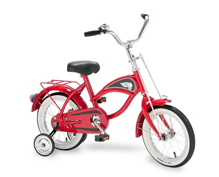 14 inch Cruiser Bicycle with Training Wheels RED