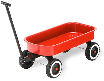 Little Red Wagon for Tots Dolls  Gift