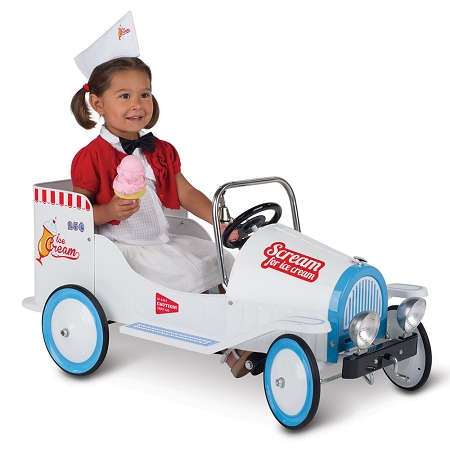 Classic Ice Cream Childs Ride on Pedal Truck