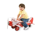 Ace Flyer BiPlane Foot to Floor Childs Ride on Toy
