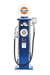 Gas Pump Lamp Clock Gulf Blue