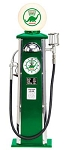 Gas Pump Lamp Clock Dino Green
