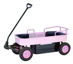 Two Person Coach Steel Wagon Pink