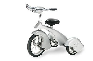 Retro Style Silver Steel Tricycle