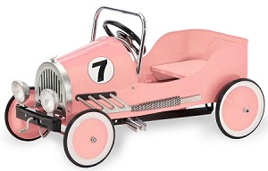 Retro Style Steel Pedal Car PINK