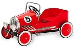 Retro Style Steel Pedal Car RED