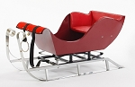 Prancer Red Snow Sleigh Steel Body and Runners