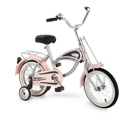 14 inch Cruiser Bicycle with Training Wheels PINK