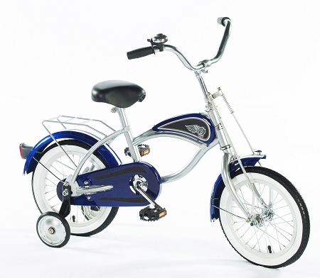 14 inch Cruiser Bicycle with Training Wheels BLUE