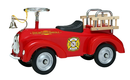 Fire Engine Foot to Floor Scoot-Ster
