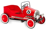RED 1920s Retro Roadster Steel Pedal Car Ride on Toy
