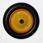 Pick up Tricycle front steel wheel with puncture-proof tire
