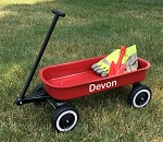 Garden Ready Tot Wagon RED Personalized with Childs Name Gloves and Trowel