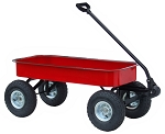 Classic Junior Size Steel Wagon in RED