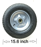 4.80/4.0-8 Wheel and Tire 2-Ply 30 PSI w/ Ball Bearing hub for 20mm Shaft