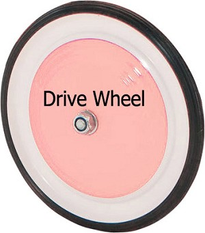 Pedal Car Front Wheel Pink